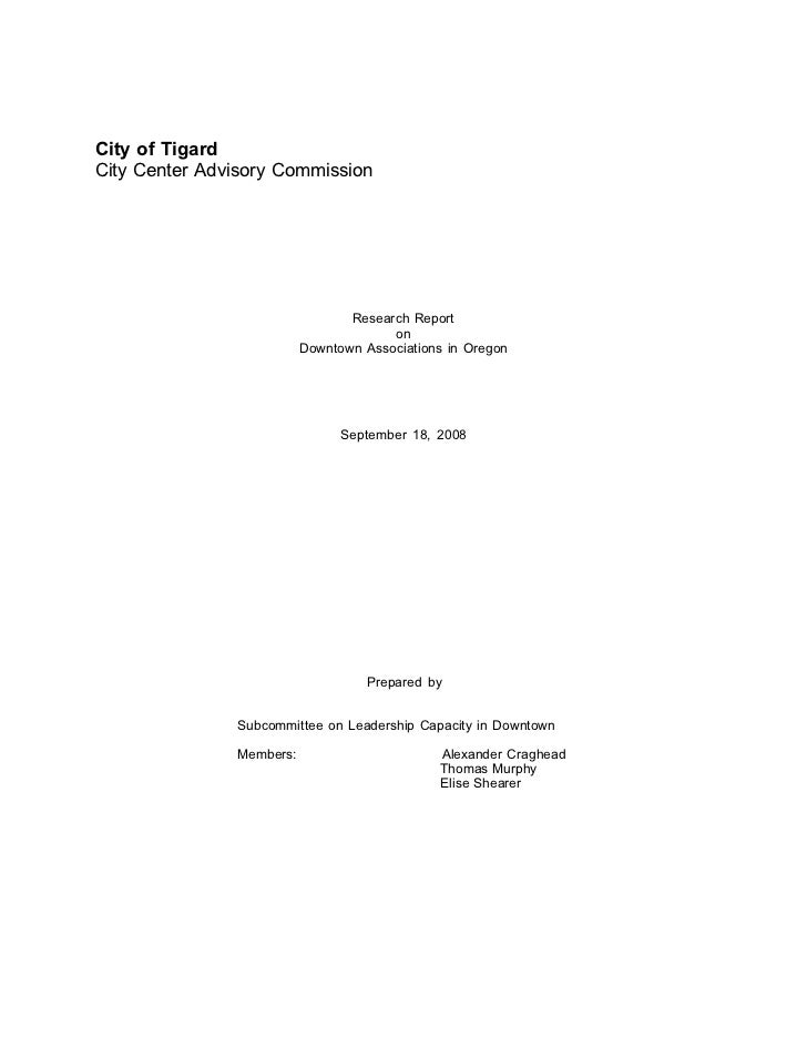 City of TigardCity Center Advisory Commission                                 Research Report                             ...