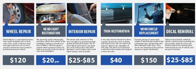 Headlight windshield wheel repair restoration interior repair trim restoration replacement decal removalwheel repair is a specialized process we clean the