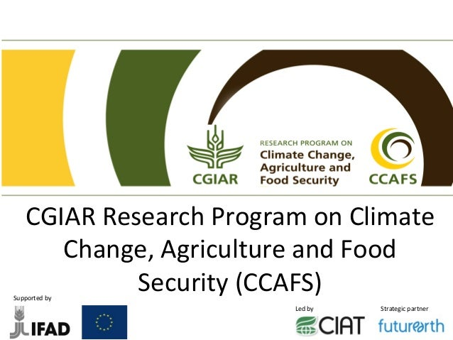 CGIAR  Research  Program  on  Climate   Change,  Agriculture  and  Food ...
