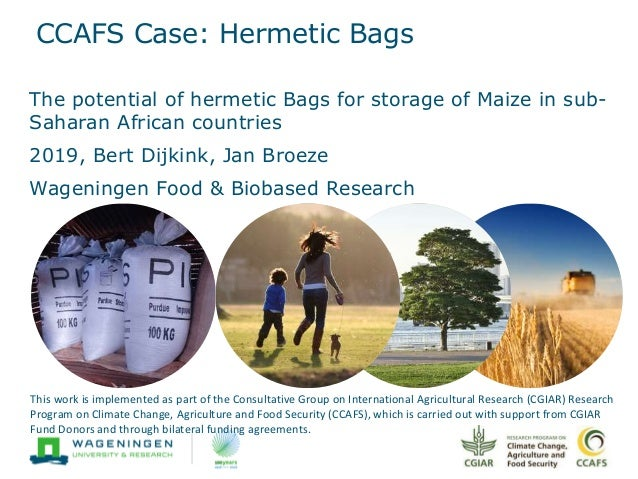 CCAFS Case: Hermetic Bags The potential of hermetic Bags for storage of Maize in sub- Saharan African countries 2019, Bert...