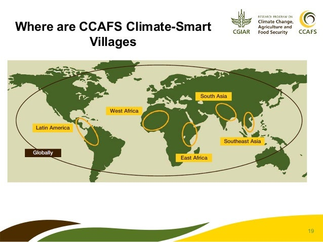 Where are CCAFS Climate-Smart Villages  19