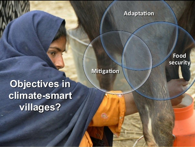 Adapta<on    Food   security   Mi<ga<on    Objectives in climate-smart villages?  5
