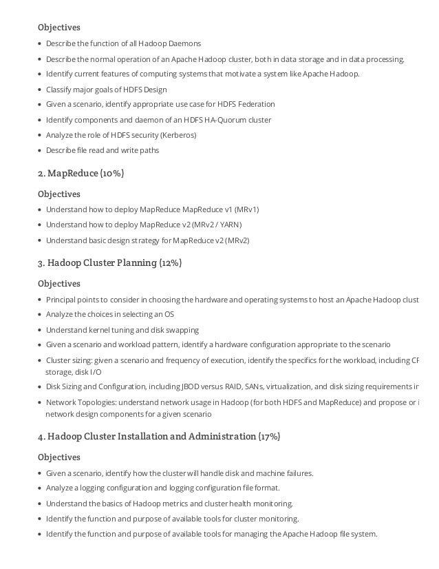 Ccah Cca 410 Hadoop Administrator Certification Exam Sample Test Qu