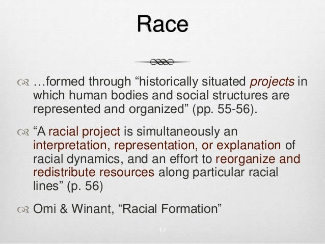 Racial Formation in the United States Essay Paper