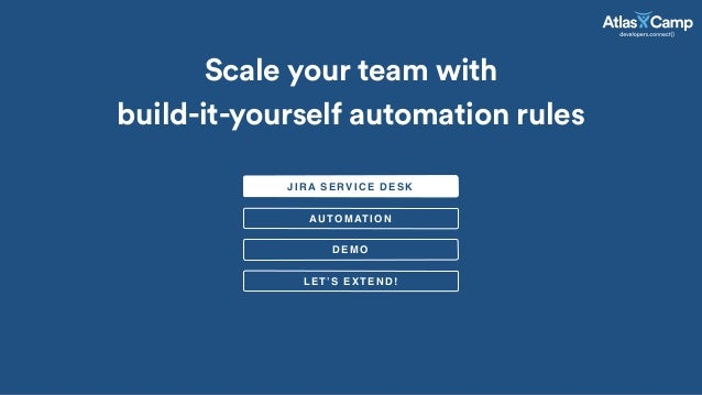 Atlascamp 2015 Jira Service Desk Scale Your Team With