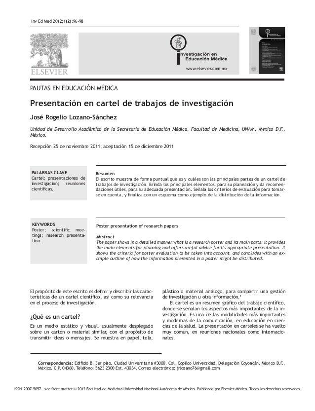 Inv Ed Med 2012;1(2):96-98 www.elsevier.com.mx ISSN: 2007-5057 - see front matter © 2012 Facultad de Medicina Universidad ...