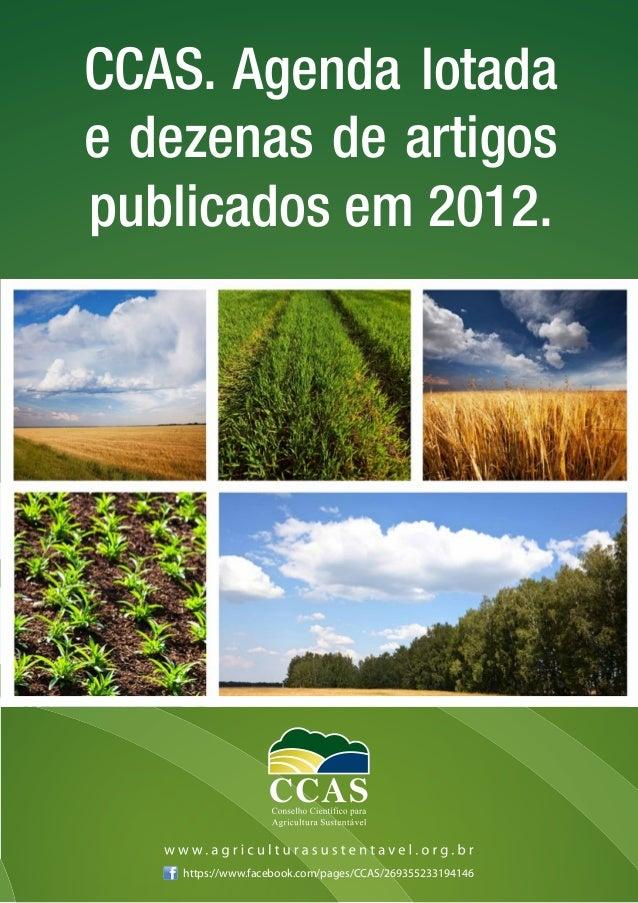 CCAS. Agenda lotadae dezenas de artigospublicados em 2012.    https://www.facebook.com/pages/CCAS/269355233194146