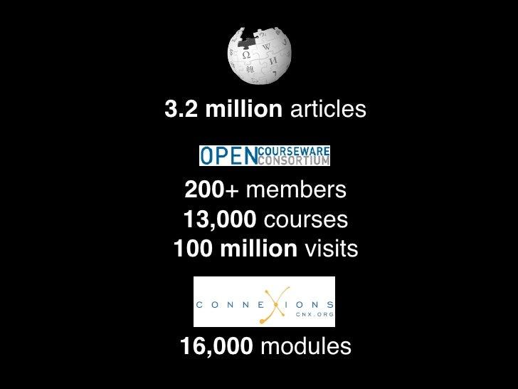 Social, Organizational, Accreditation                 Licenses                Content                Internet