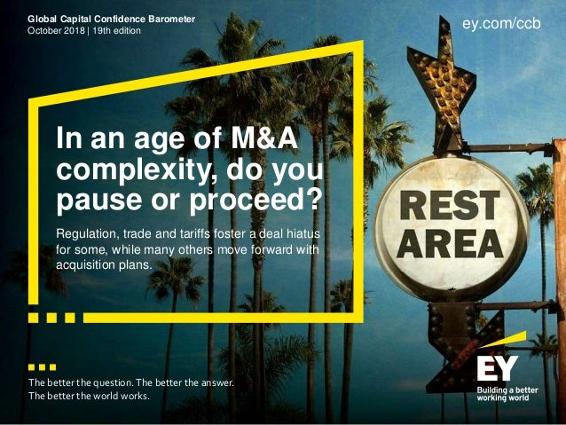 In an age of M&A complexity, do you pause or proceed? Regulation, trade and tariffs foster a deal hiatus for some, while m...
