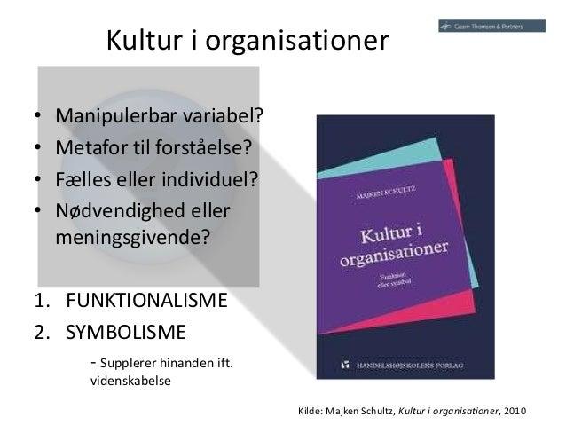 kultur i organisationer