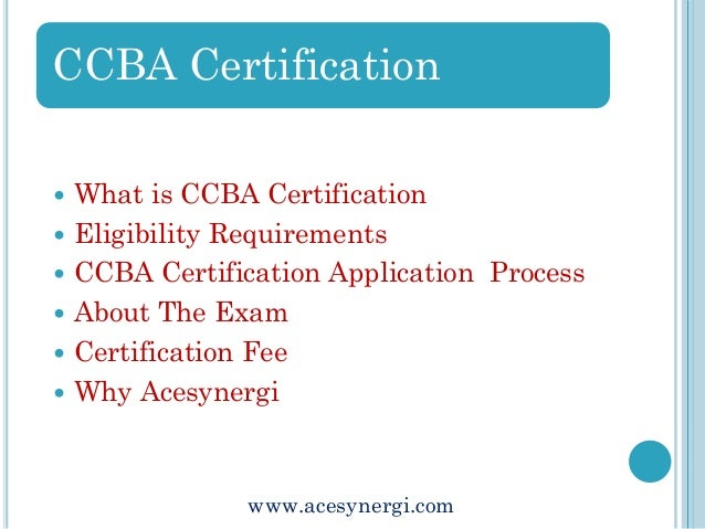 Business Analysis Certification The Certification of Capability in Bu…
