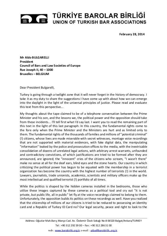 February 28, 2014 Mr Aldo BULGARELLI President Council of Bars and Law Societies of Europe Rue Joseph II, 40 – 1000 Bruxel...