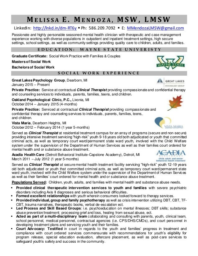 Lmsw Resume Nmdnconference Example Resume And Cover Letter