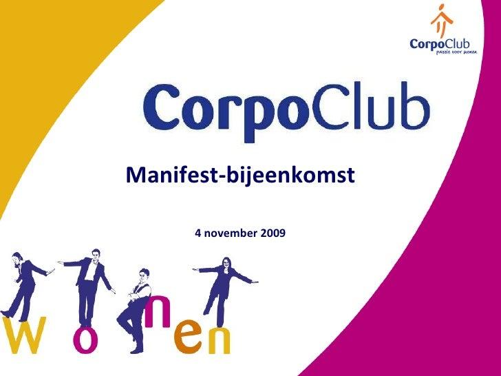 Manifest-bijeenkomst 4 november 2009