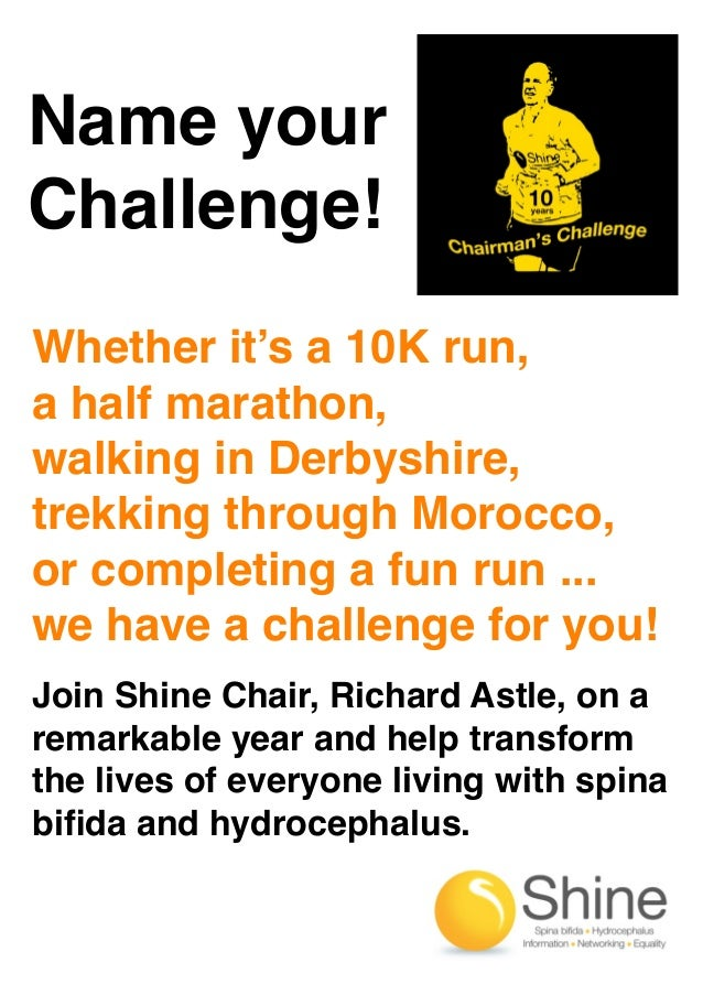Name your Challenge! Whether it's a 10K run, a half marathon, walking in Derbyshire, trekking through Morocco, or completi...