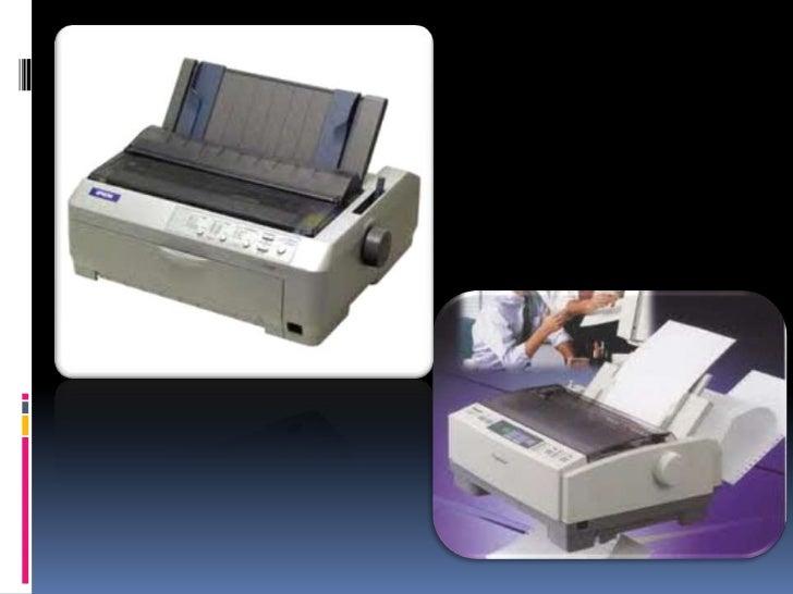 Características La impresora recibe desde la computadora, las órdenes y los    datos de lo que va a imprimir.   La impre...