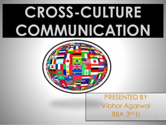 CROSS-CULTURE  COMMUNICATION  PRESENTED BY  Vibhor Agarwal  BBA 3rd b  1