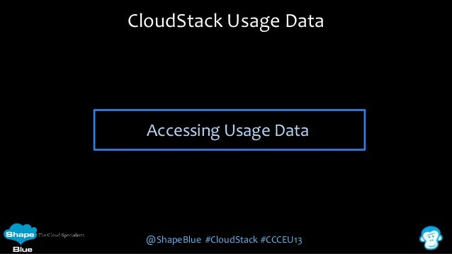 CloudStack Usage Data  Accessing Usage Data  @ShapeBlue #CloudStack #CCCEU13