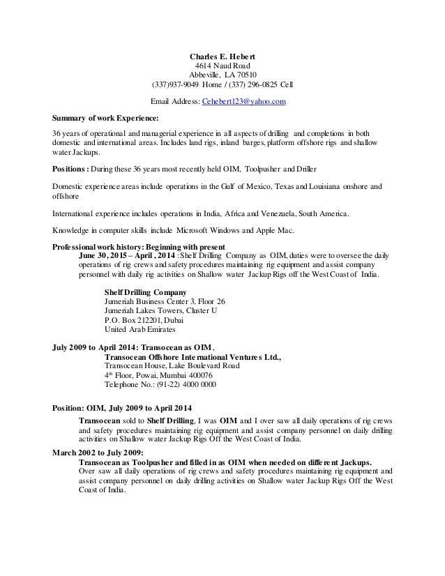 charles resume revised june 6 2015