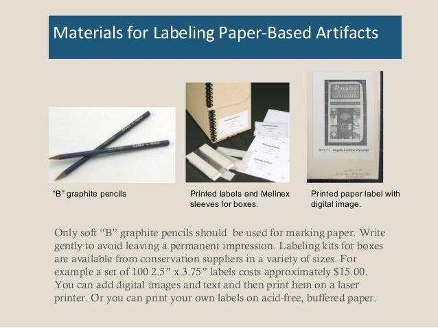 Artifact Labeling 101