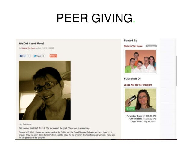 Peer to Peer Fundraising - Tips, Tools and Tactics - CCCC Conference
