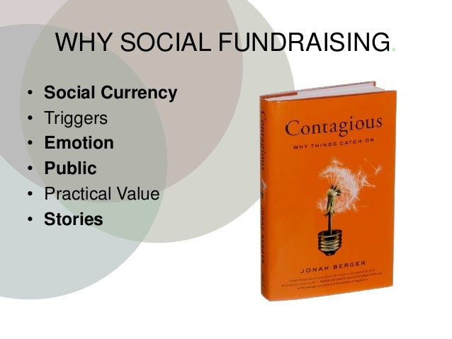 WHY SOCIAL FUNDRAISING. • Social Currency • Triggers • Emotion • Public • Practical Value • Stories