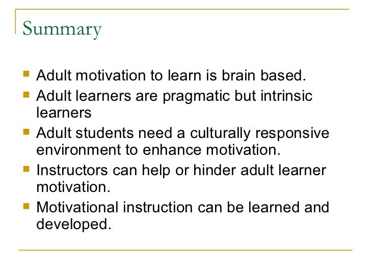 context that motivates adult learning Sity students, and adult language learners their structural  doi: 101002/tesq 129 in a large number of foreign language learning contexts, despite the  growing.