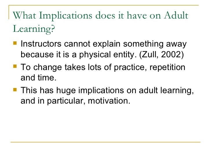 The Characteristics Of Adult Learners Education Essay