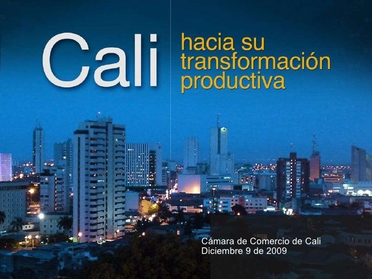 <ul><ul><li>C ámara de Comercio de Cali </li></ul></ul><ul><ul><li>Diciembre 9 de 2009 </li></ul></ul>
