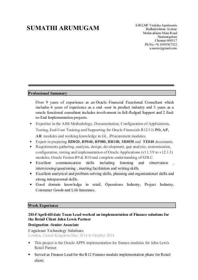 Sumathi-9 years(Pur,AP,AR-Func Consultant)