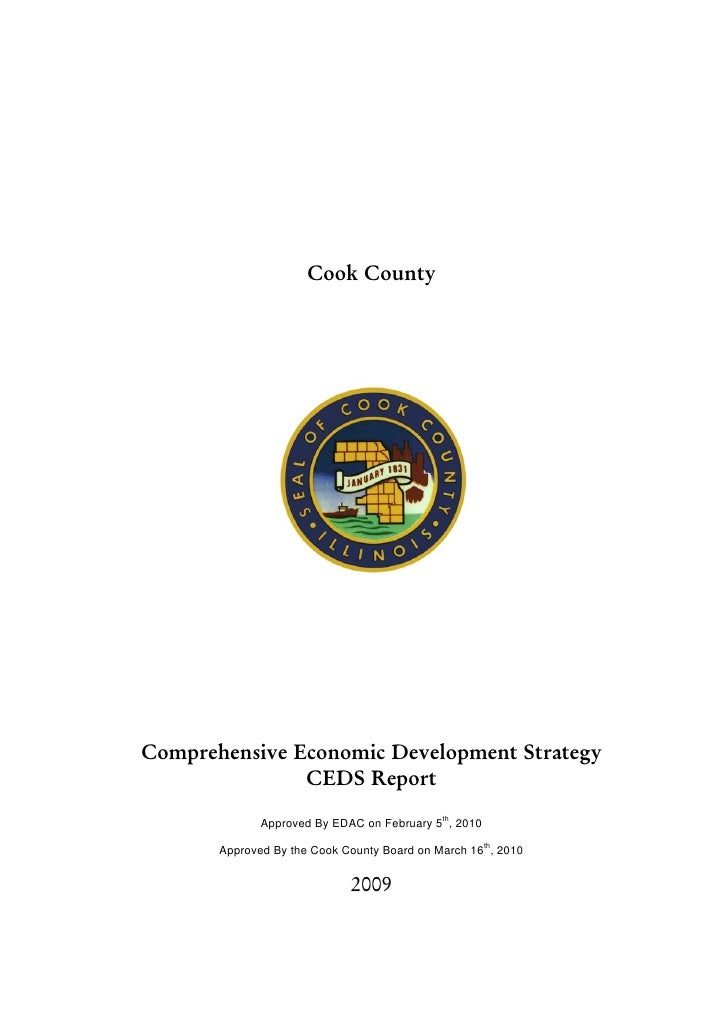 Cook CountyComprehensive Economic Development Strategy               CEDS Report              Approved By EDAC on February...