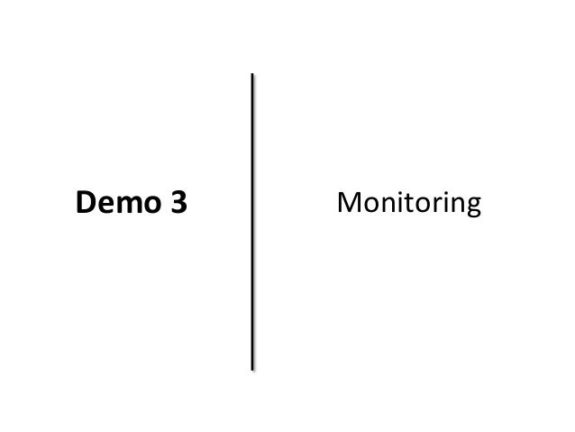 Demo 3 Monitoring