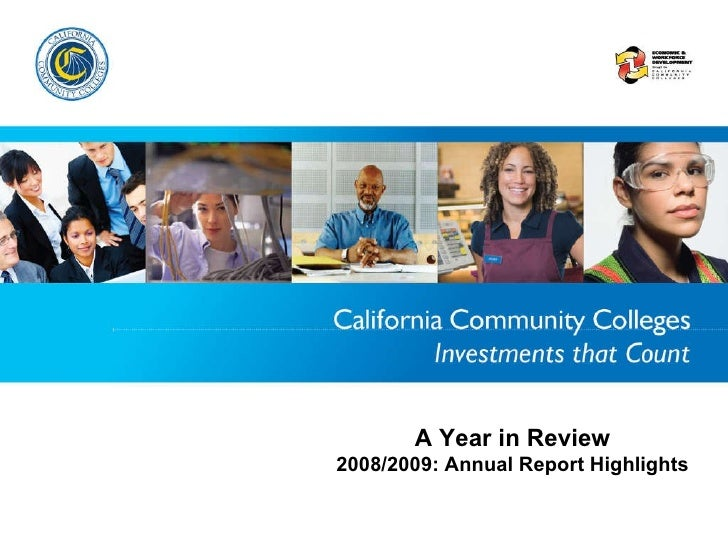 A Year in Review 2008/2009: Annual Report Highlights