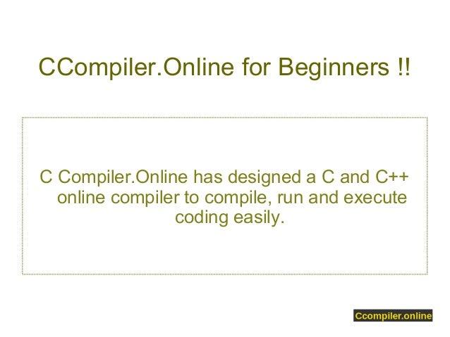 online c++ compiler