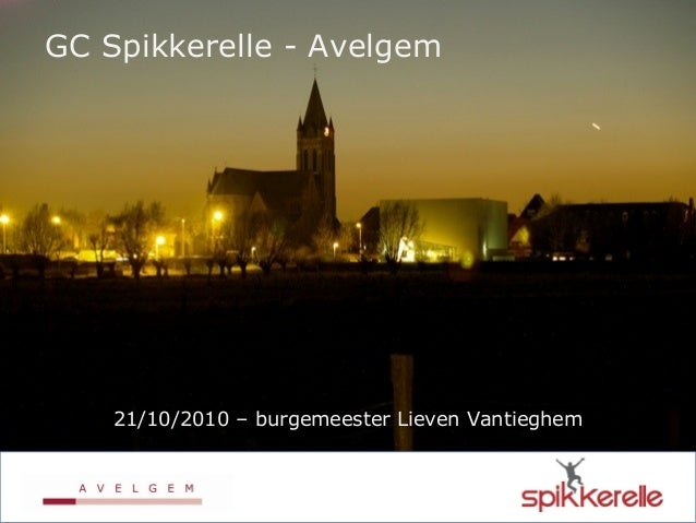 GC Spikkerelle - Avelgem 21/10/2010 – burgemeester Lieven Vantieghem