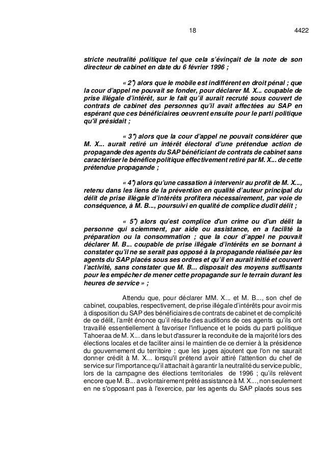 442218 stricte neutralité politique tel que cela s'évinçait de la note de son directeur de cabinet en date du 6 février 19...