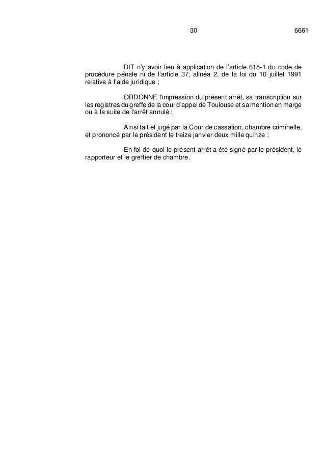 arr t cour cassation azf 13 janvier 2015
