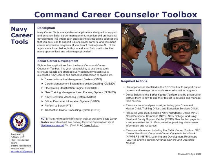 CCC TOOL BOX (Navy Counselor Procedures)