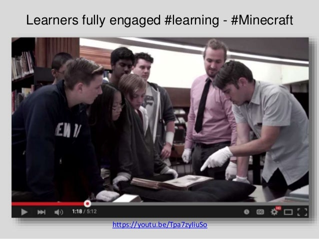 Learners fully engaged #learning - #Minecraft https://youtu.be/Tpa7zyIiuSo