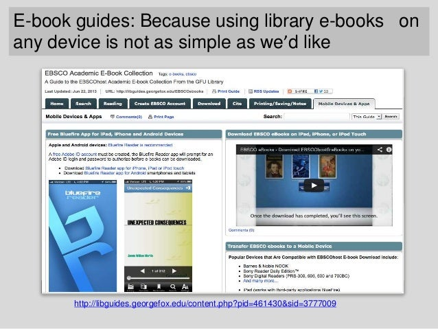 Teaching Library Research Classes on Mobile (For programs gone mobile – iPad & tablet initiatives, etc.) • Blog Post: http...