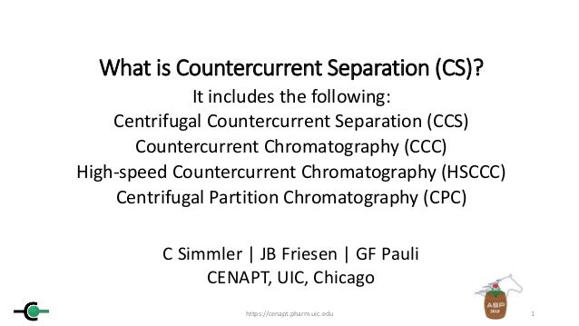 What is Countercurrent Separation (CS)? It includes the following: Centrifugal Countercurrent Separation (CCS) Countercurr...