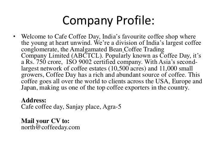 Profile cafe