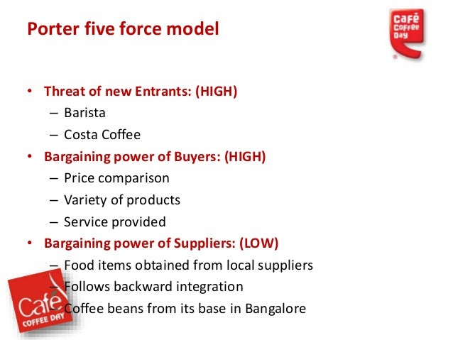 """how good is the bargaining power of suppliers for a cafe Bargaining power through actual wholesale prices"""" † center for  issue first,  the coffee manufacturing sector uses a simple and well-known."""