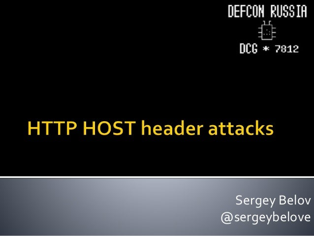 HTTP HOST header attacks
