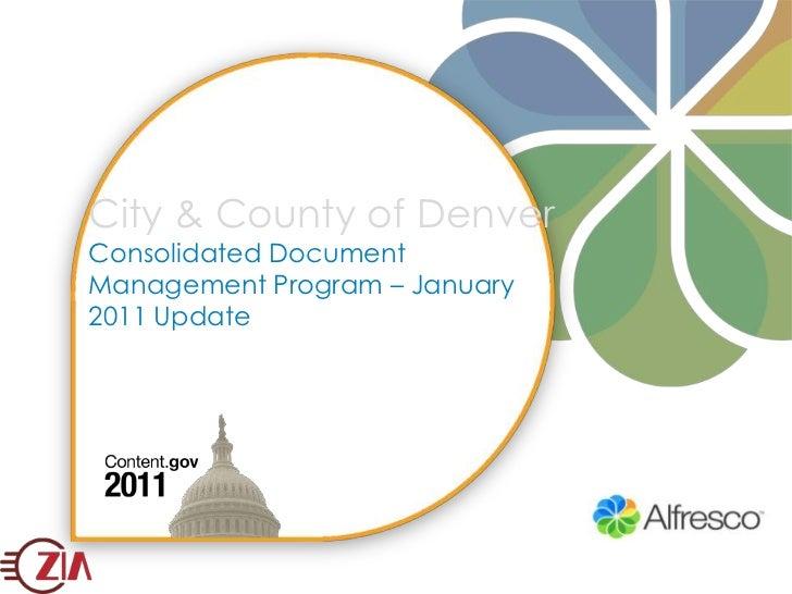 Alfresco 2010 Implementation of the Year Denver ECM for Content.gov Conference