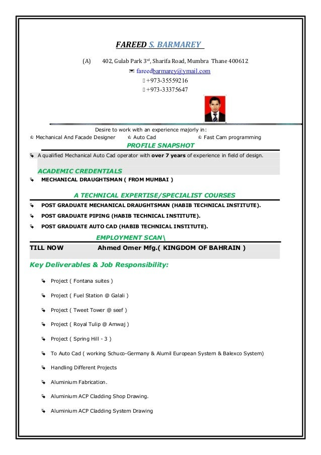 my-resume-facade-designer-1-638 Operator Resume Format on pipefitter crane,