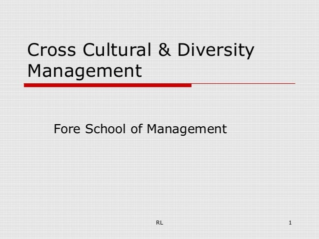 RL 1Cross Cultural & DiversityManagementFore School of Management