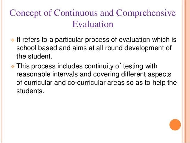continuous and comprehensive evaluation advantages