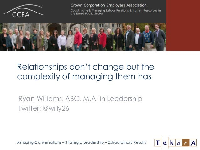 Amazing Conversations – Strategic Leadership – Extraordinary Results Relationships don't change but the complexity of mana...