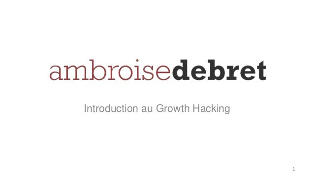 Introduction au Growth Hacking 1